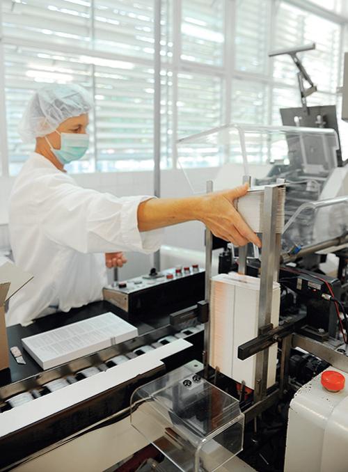 Linija proizvodnje lijekova u tvornici Belupo